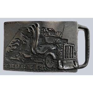 Vintage Truck It! belt buckle